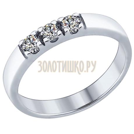 Кольцо из серебра со Swarovski Zirconia 89010059