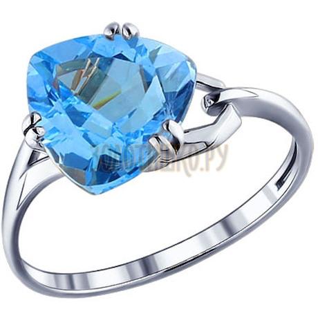Кольцо из серебра с топазом 92010009