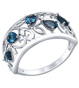 Кольцо из серебра с топазами 92011375