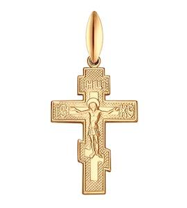 Крест из золочёного серебра 93120019