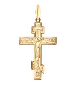 Крест из золочёного серебра 93120023
