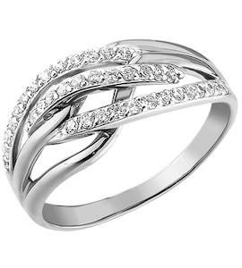 Кольцо из серебра с фианитами 94010013