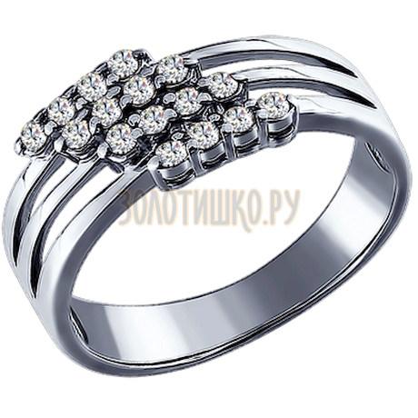 Кольцо из серебра с фианитами 94010018