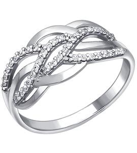 Кольцо из серебра с фианитами 94010095