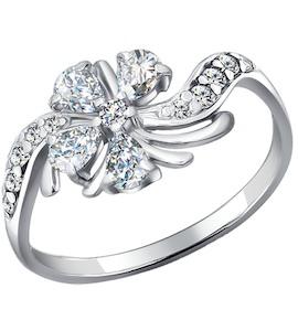 Кольцо из серебра с фианитами 94010267
