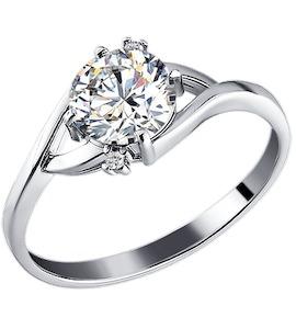 Серебряное кольцо с фианитом 94010357