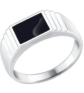 Печатка из серебра с эмалью 94010432