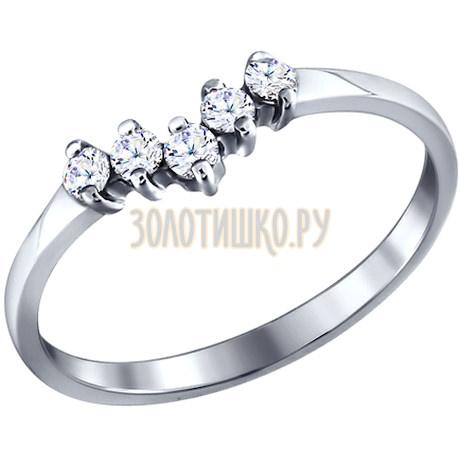 Кольцо из серебра с фианитами 94010705
