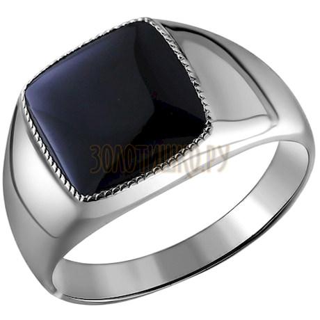 Перстень с ониксом мужской 94010920