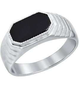 Печатка из серебра с ониксом 94010927