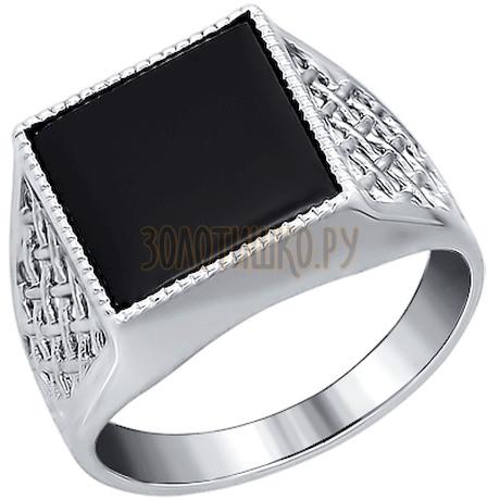 Печатка из серебра с ониксом 94010963