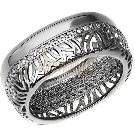 Кольцо из серебра с фианитами 94011072