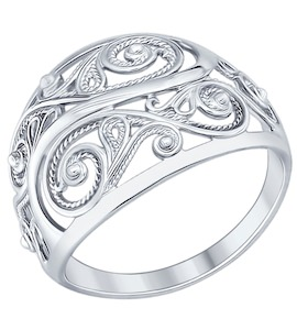 Кольцо из серебра 94012195