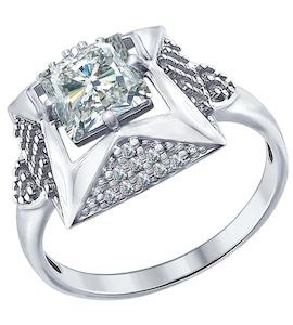 Кольцо из серебра с фианитами 94012277