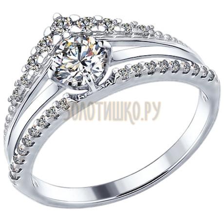 Кольцо из серебра с фианитами 94012282