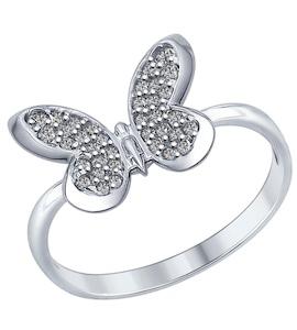 Кольцо из серебра с фианитами 94012310