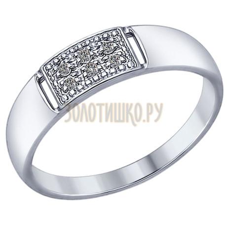 Кольцо из серебра с фианитами 94012314
