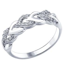 Кольцо из серебра с фианитами 94012332