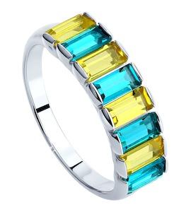 Cеребряное кольцо с кристаллами Swarovski 94012564