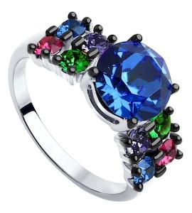 Cеребряное кольцо с кристаллами Swarovski 94012567