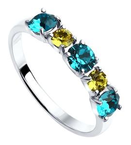 Cеребряное кольцо с кристаллами Swarovski 94012569