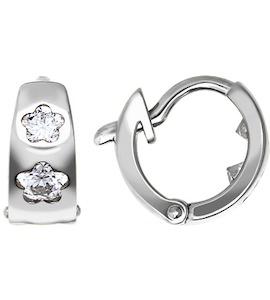 Серьги из серебра с фианитами 94021140