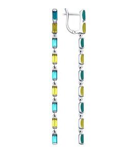 Длинные серьги с кристаллами Swarovski 94022555