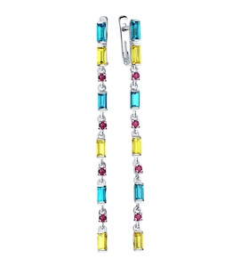 Длинные серьги с кристаллами Swarovski 94022561