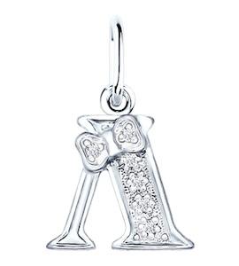 Серебряная подвеска-буква «Л» 94030475