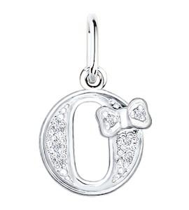 Серебряная подвеска-буква «О» 94030478