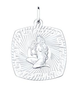 Подвеска из серебра «Знак зодиака Дева» 94030863
