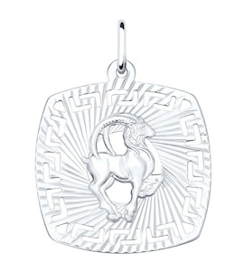 Подвеска из серебра «Знак зодиака Козерог» 94030867