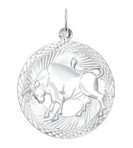 Подвеска знак зодиака из серебра с алмазной гранью 94030871