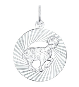 Подвеска «Знак зодиака Овен» из серебра 94030882