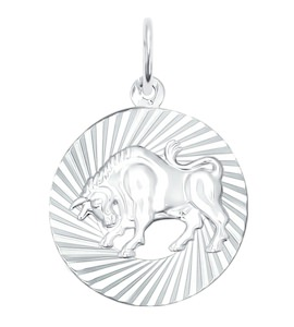 Подвеска из серебра «Знак зодиака Телец» 94030883