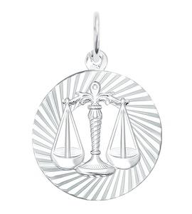 Подвеска «Знак зодиака Весы» из серебра 94030888