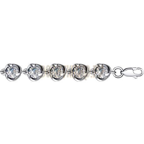Браслет из серебра с фианитами 94050056