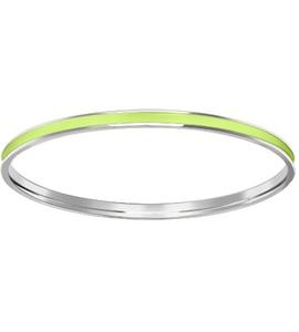 Салатовый жесткий браслет из серебра 94050192