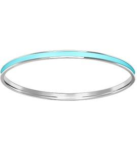 Серебряный жесткий браслет с лазурной эмалью 94050195