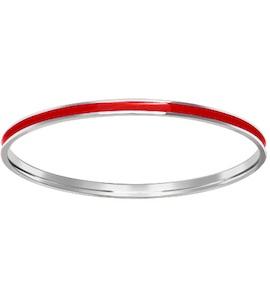Жёсткий браслет c красной эмалью 94050197