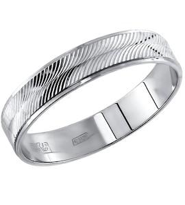 Обручальное кольцо из серебра с алмазной гранью 94110009