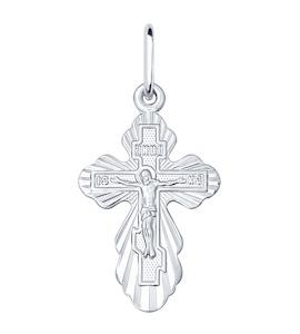 Серебряный нательный крестик 94120128