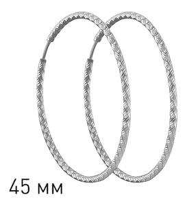 Серьги конго из серебра с алмазной гранью 94140034