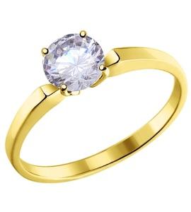 Золотое кольцо с фианитом 010184-2