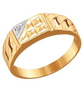 Золотое кольцо с фианитом 011303