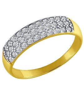 Золотое кольцо с фианитами 012195-2