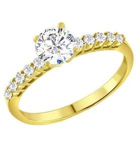Золотое кольцо с фианитами 012953-2