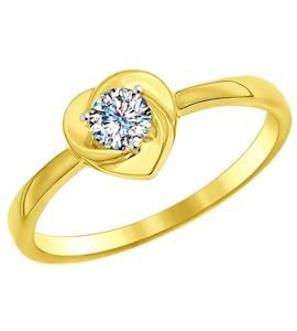 Золотое кольцо с фианитом 016998-2
