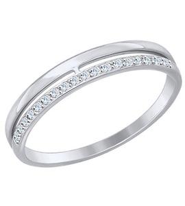 Золотое кольцо с фианитами 017151-3