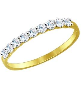 Золотое кольцо с фианитами 017169-2